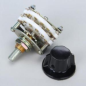 4P-5T 4 pole 5 position Ceramic Rotary Switch RF Power