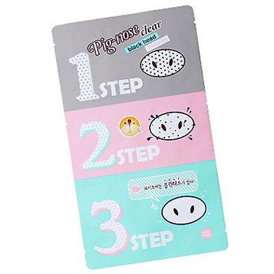 5 Set Holika Holika Pig Nose Clear Black Head 3 Step Kit Korea Beauty Sebum