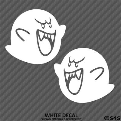 Super Mario Brothers Dekorationen (Super Mario Brothers BOO Vinyl Decal Sticker 2 Pack - Choose Color)