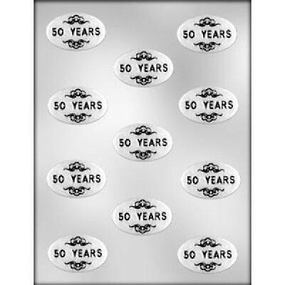 50 Years Oval Chocolate Candy Mold  Birthday Service Oval Chocolate Mold