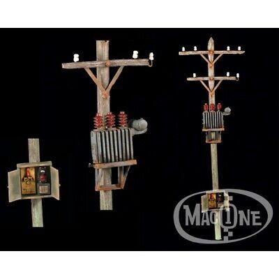 MAC35127 Macone-Models Poste Eléctrico y Transformador 1/35