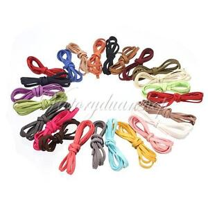 1M-5mm-Soft-Leather-Suede-Lace-Cord-Rope-Velvet-Bracelet-Necklace-DIY-Strap-Gift