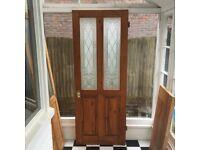 Free internal door with glass panels