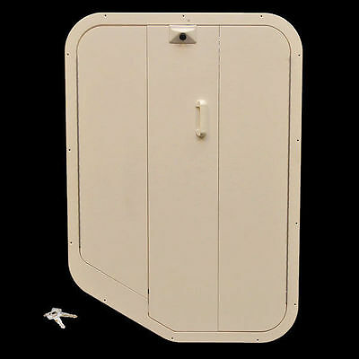OFF-WHITE 28 X 40 3/4 BOAT LOCKING CABIN /ACCESS FOLDING DOOR HATCH ENTRANCE