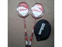 Brand new Wilson badminton rackets