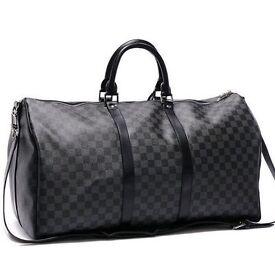 **LOUIS VUITTON Damier Lv Check Bag Gym Duffle Keepall Handbag Holdall** xx