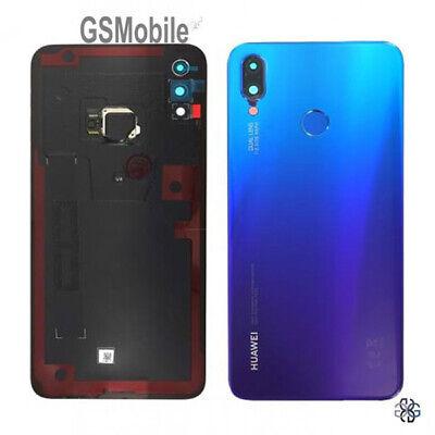 Tapa Bateria Lente Huella Battery Cover Lens Purple Huawei P Smart Plus...