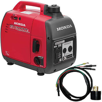 Honda Eu2000 Companion 1600 Watt Portable Inverter Generator W Parallel Cabl...