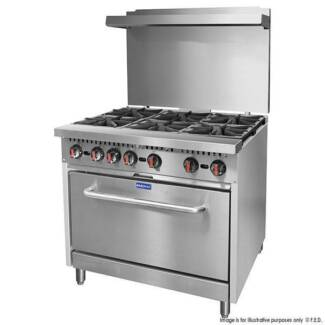 Gasmax 6 Burner Gas and Electric Cooking Ranges S36(T)