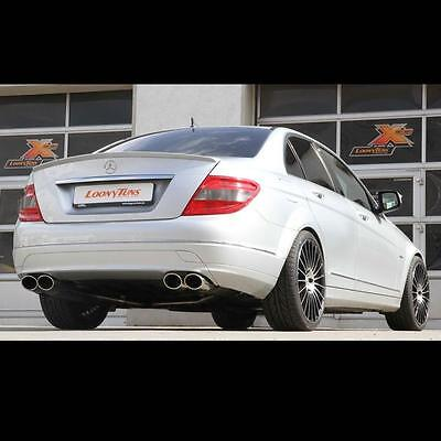 Mercedes Benz C-Klasse W204 S204 C230 C280 C320 FOX Sportauspuff reli 115x85 Ø5