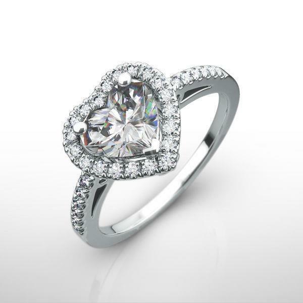 Si2 Estate Halo Diamond Ring Certified 1.25 Ct Filigree Real 18k White Gold