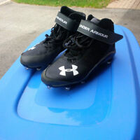 Practically New Under Armour Football cleats Size 12 U.S.  $60