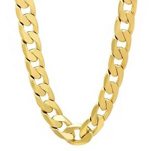 """27"""" 12mm goldfilled cuban link chain. 75% OFF"""