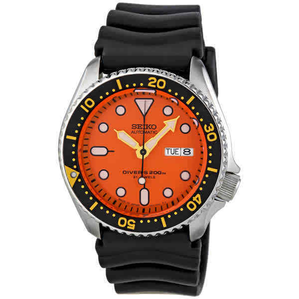 Seiko-Diver-Automatic-Orange-Dial-Men-Watch-SKX011J1
