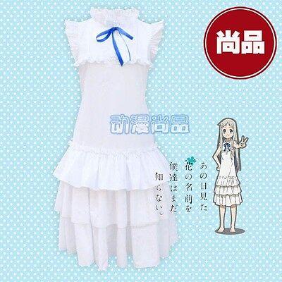 Anohana Meiko Menma Honma Costume Cosplay Dress  (Anohana Cosplay Kostüm)