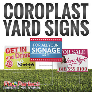 ★Waterproof Custom Coroplast Yard Sign Printing ✂$5 OFF COUPON
