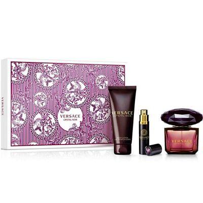 Versace Crystal Noir 90ml EDP + Body Lotion 100ml + Natural Spray 10ml Gift Set