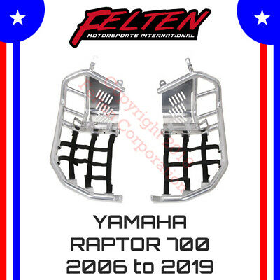 Yamaha Raptor 700 700R Foot Pegs Nerf Bars w/ Heel Guards Tusk Heal Rapter 06-19