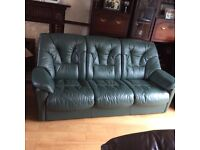 3 piece real leather suite