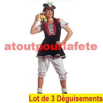LOT A PRIX PRO: 3 Déguisements de Tyrolienne - Kostüm Tyrolienne