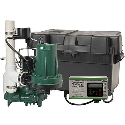 Zoeller Propack98 - 12 Hp Combination Primary Backup Sump Pump System