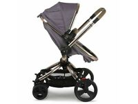 Mothercare orb pram excellent condition in grey with buggyboard