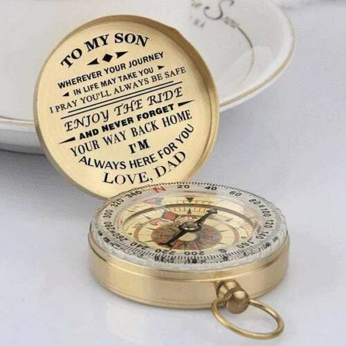 Camping Compass Engraved To Son/Grandson For Boy Girl Scouts Birthday gift