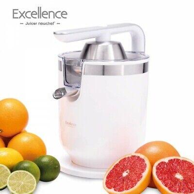 NEW CHEF-Exprimidor Eléctrico Zumo de Palanca Juicer Excellence Blanco(300W),2 T