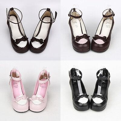 Gothic Lolita Mary Jane tea party Bow Schuhe Shoes Cosplay Kostüm Costume - Mary Jane Kostüm Schuhe