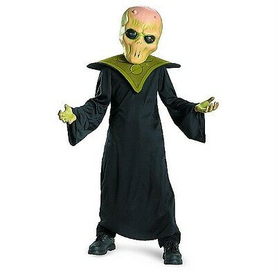 NEW KIDS TOTALLY GHOUL EVIL ALIEN HALLOWEEN COSTUME SIZE L AGES 10-12 BLACK