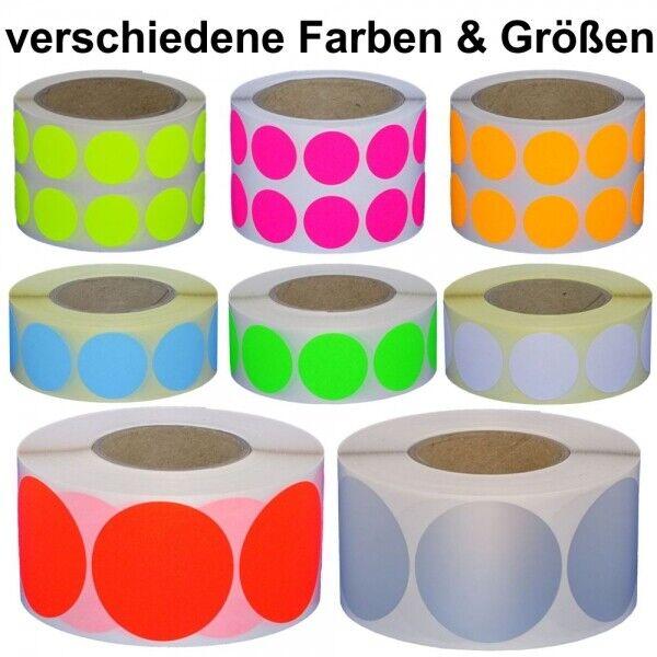 Markierungspunkte / Klebepunkte - rund - Durchmesser 20, 30 und 50 mm - farbig