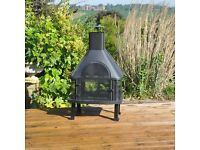 Stylish Outdoor Log Burner and BBQ - SALE PRICE