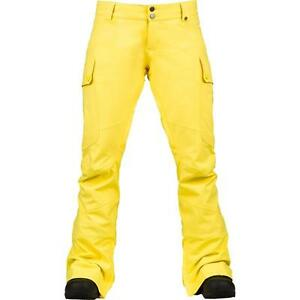 Burton Women's Yellow Gloria Snowboard Pants