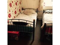 2 single beds and cupboard for sale