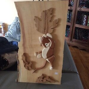 Woodcraft squirrel art