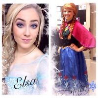Elsa from Frozen or other Disney princess parties!