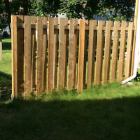 Wooden treated Fence