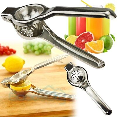 Kitchen Bar Stainless Steel Lemon Orange Citrus Lime Squeezer Juicer Press Tool