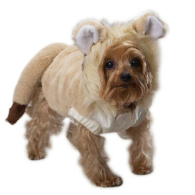 Lion Mane Plush DOG Puppy Halloween Lil' Lion Costume Gift Tail Size XLARGE