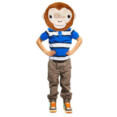 NEW Wild & Soft Monkey Plush Animal Head Mascot Costume Kids Party xmas (Monkey Soft Kostüme)