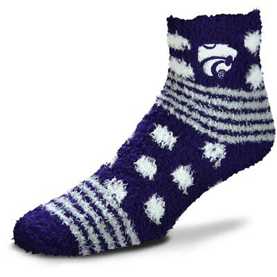 Kansas State Wildcats NCAA For Bare Feet Homegator Purple Fuzzy Socks ()