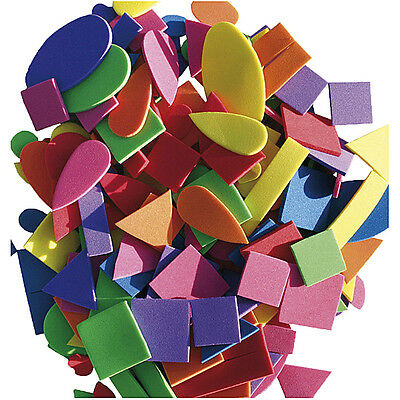 200 MOOSGUMMI FORMEN Set Kreise Quadrat Dreieck Tropfen Herz Herzen Rechteck Mix ()