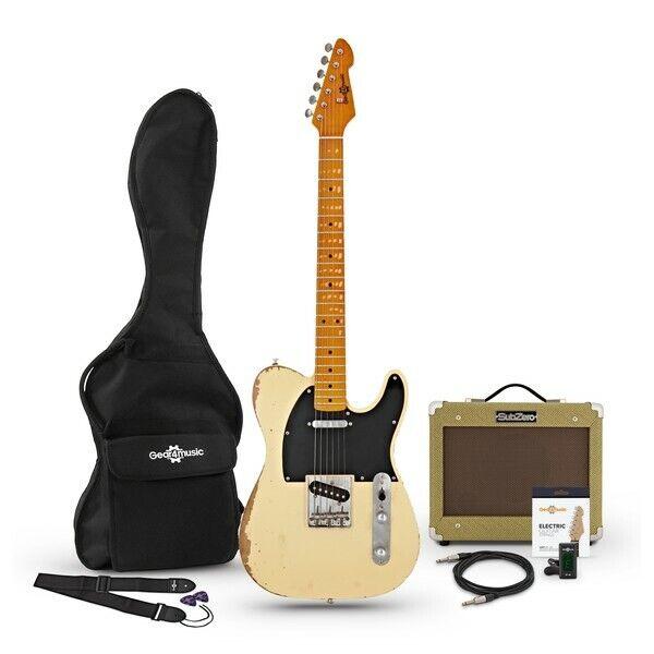 Knoxville Select Legacy Guitar + Tweed Amp Pack Vintage Blonde