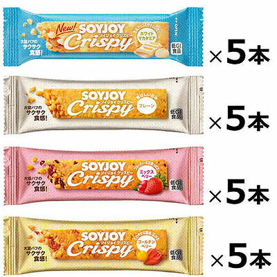 SoyJoy crispy 20pcs Fruits Snack Bar 4 taste Healthy Soybean nutritional food 60