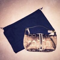 BRAND NEW COACH MONOGRAM BAG WITH BEADED DETAILS