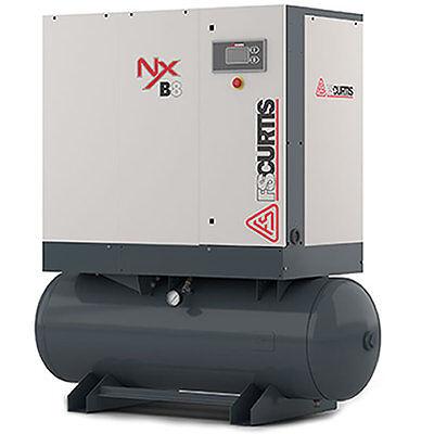 FS-Curtis NxB-8 10-HP 80-Gallon Rotary Screw Air Compressor (460V 3-Phase 125...