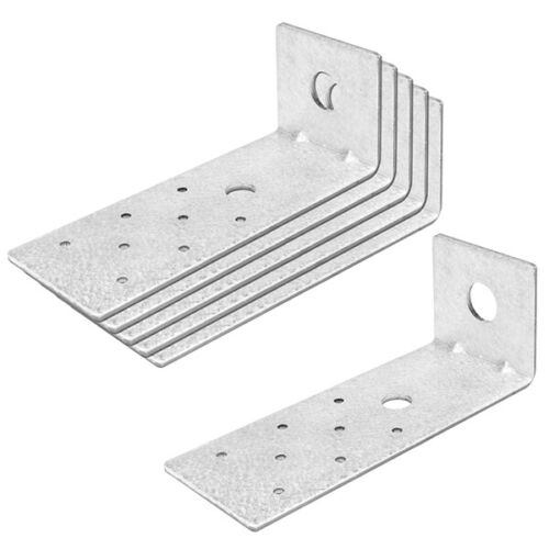 6 Packs Steel Light Tension Tie L Right Angle Bracket 6