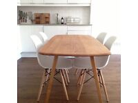 Ercol Originals Plank Table plus 4 Eames replica