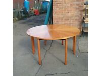 Chestnut round table