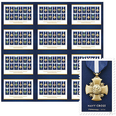 USPS New The Service Cross Medals Press Sheet with Die Cuts